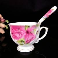 景德镇花中之王咖啡套装套具 高档骨瓷咖啡杯