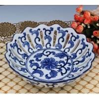 陶瓷 青花瓷器 水果盘 果盆 时尚创意 古典雅致 工艺摆设