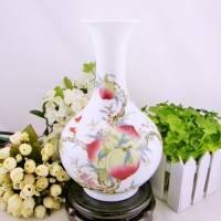 福寿图景德镇陶瓷花瓶 居家摆设 装饰品