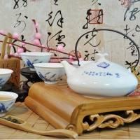 景德镇7头大碗茶 陶瓷茶具套装 功夫茶具 鹭栖