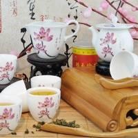 8头花之君子茶具 景德镇陶瓷茶具套装