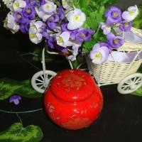 红牡丹锡纸密封陶瓷茶叶罐 景德镇陶瓷茶叶罐