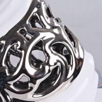 景德镇电镀镂空大号花瓶创意时尚现代陶瓷电镀