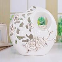 景德镇创意时尚现代陶瓷 镂空花瓶