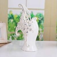 景德镇欧式奢华现代家居陶瓷镀金银 花瓶