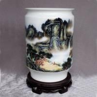 景德镇陶瓷手绘山水花瓶 名人花瓶【青山叠翠】