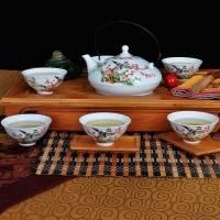 景德镇7头扁壶大碗茶陶瓷茶具 【喜上眉梢】