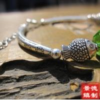 景德镇苗银民族风手工手饰 陶瓷饰品 小鱼手链(5款任选)