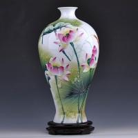 景德镇名人名作陶瓷手绘花瓶 家居装饰摆件工艺品【俞金喜作品】