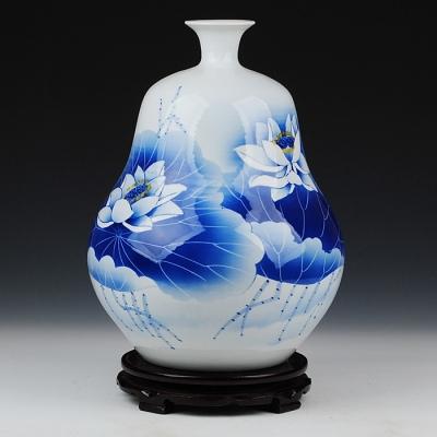 景德镇名人名家吴文瀚手绘葫芦花瓶 收藏证书 【葫芦清韵】