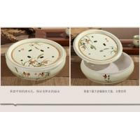 景德镇8头高档隔热茶具 带大陶瓷茶盘 送领导 两款可选择