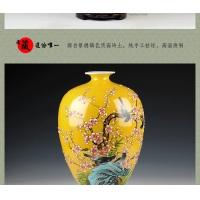 景德镇陶瓷名人名作 手绘陶瓷花瓶礼品【喜上眉梢花瓶】