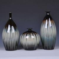 景德镇三件套窑变古典花瓶 复古家居摆件工艺品