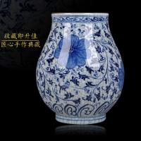景德镇釉下彩仿古官窑青花瓷花瓶 家居装饰陶瓷 四器型任选