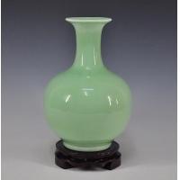 景德镇手工制作明清古典影青豆青釉赏瓶 客厅家居装饰工艺品
