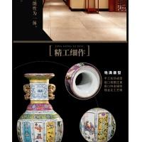 景德镇陶瓷仿古雍正矾红瓷母粉彩花瓶 【镀金珐琅彩花瓶】