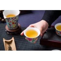 景德镇8头碧玉绿珐琅彩茶具套组 高端商务礼品茶具【万花富贵】